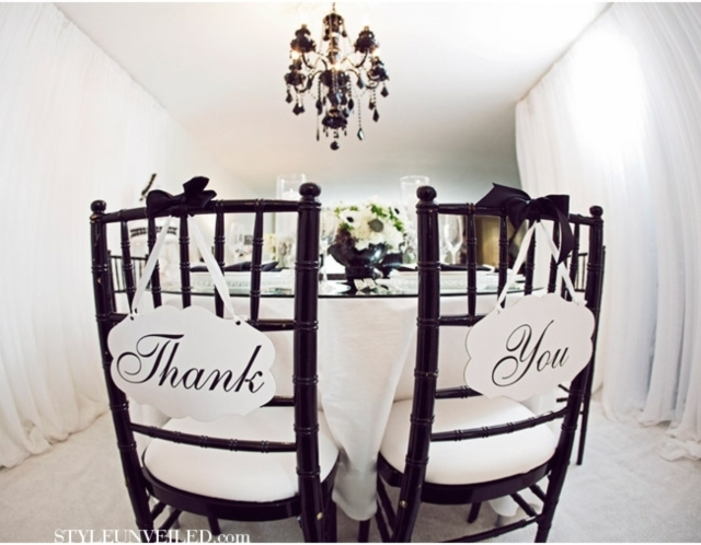 Black & White Wedding Inspiration by Kat Minassi Events and Design