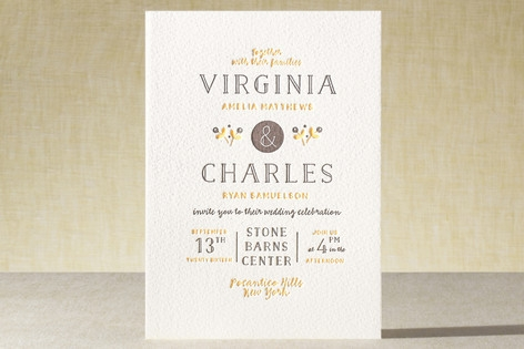 A Fresh Start Letterpress Wedding Invitations