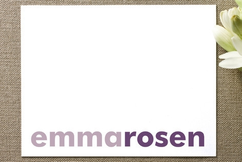 Accent Personalized Stationery by Marabou