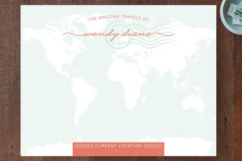Amazing Travel Personalized Stationery by Serenity...