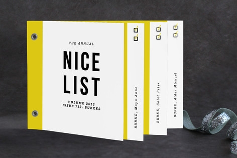 annual nice list Holiday Minibook™ Cards