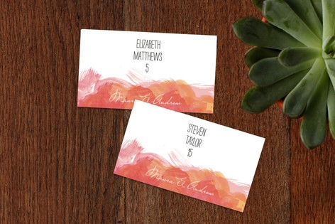 Aquarelle Place Cards