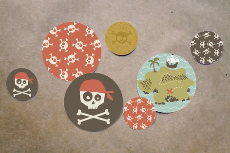 argh! pirates! Table Confetti by guess what?