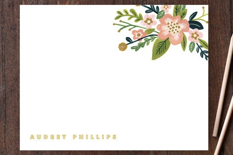 Audrey Personalized Stationery by Moglea