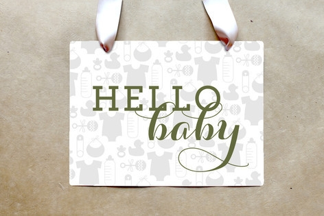 Baby Icons Party Greeting Signs by Palm Papers