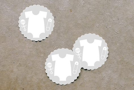 Baby Icons Scalloped Stickers by Palm Papers