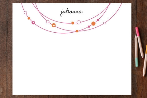 Bejeweled Children's Personalized Stationery