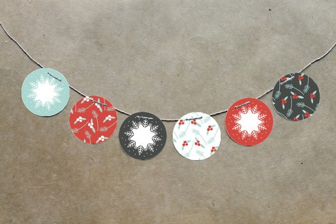 Berry Kraft Circle Garlands by Angela Marzuki