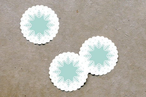 Berry Kraft Scalloped Stickers