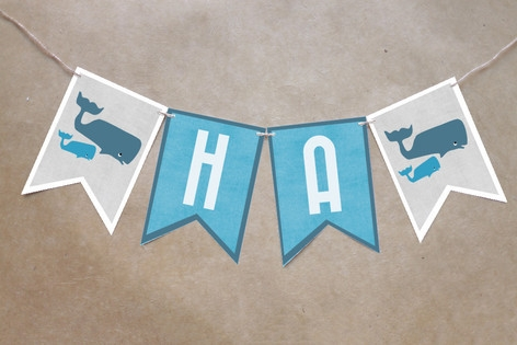 Big Whale Little Whale Bunting Banners by Five Spa...