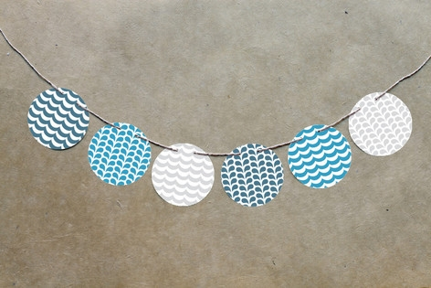 Big Whale Little Whale Circle Garlands by Five Spa...
