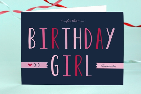 Birthday Girl Kids Birthday Greeting Cards