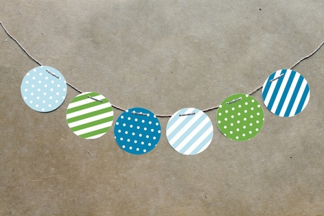 Blue Big Top Circus Circle Garlands by Jennifer Wi...
