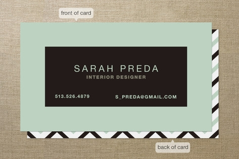 Bold Border Business Cards