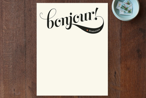 Bonjour! Personalized Stationery by Melanie Severi...