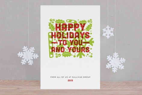 Candy Color Business Holiday Cards