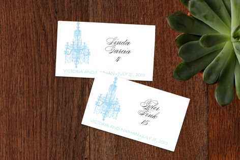 Chandelier Place Cards