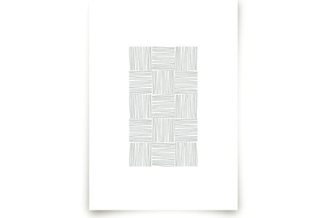 Checkered Lines Art Prints