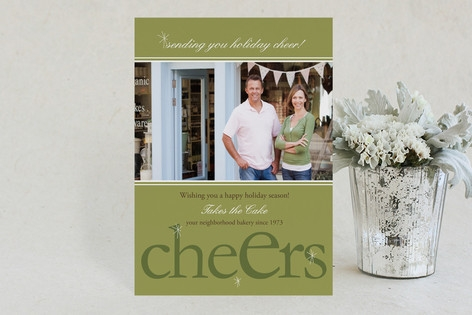 Cheers Business Holiday Cards