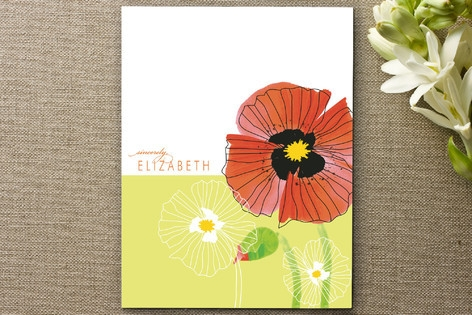 chic poppies Personalized Stationery by Gakemi Art...