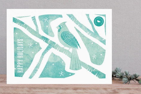 Christmas Bird Business Holiday Cards
