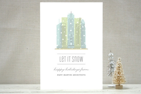 City Flurry SF Business Holiday Cards
