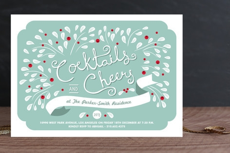 Cocktails & Cheer Holiday Party Invitations