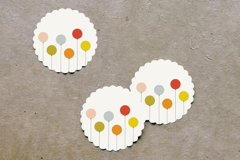 Colorful Balloons Scalloped Stickers by Amber Bark...