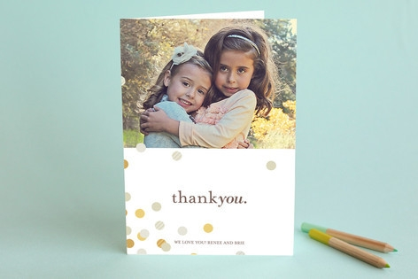 Confetti Scatter Adult Thank You Greeting Cards...