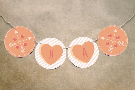 Conversation Heart Valentine Bunting Banners by Sa...