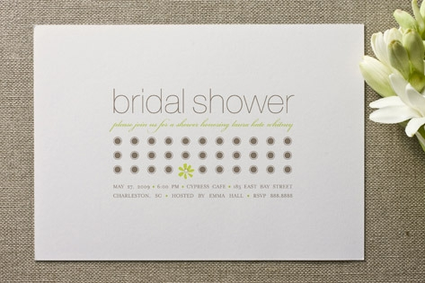 Daisy Calendar Bridal Shower Invitations by kelli ...