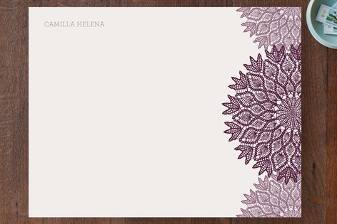 Delicate Doily Personalized Stationery by Alyssa M...