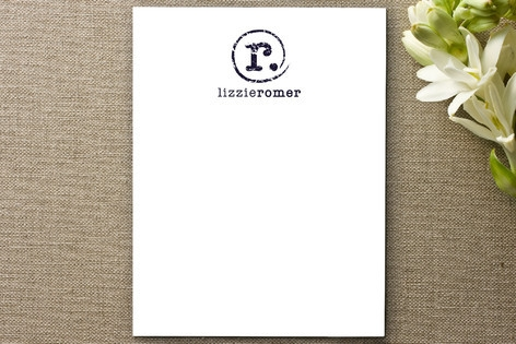 Distressed Monogram Personalized Stationery by wak...
