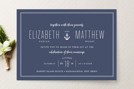 Down by the Sea Wedding Invitations by The Occasio...