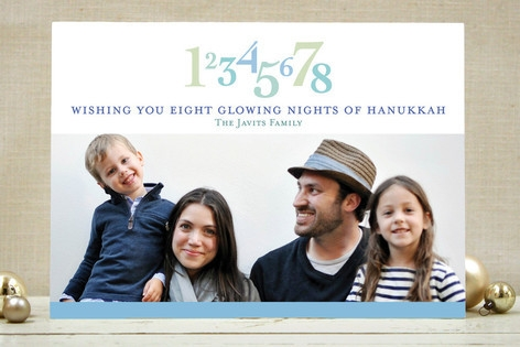 Eight Glowing Nights Hanukkah Cards