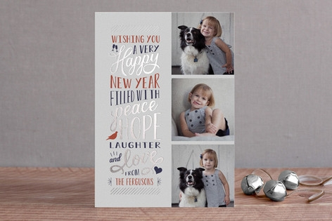 Elated Foil-Pressed Holiday Cards