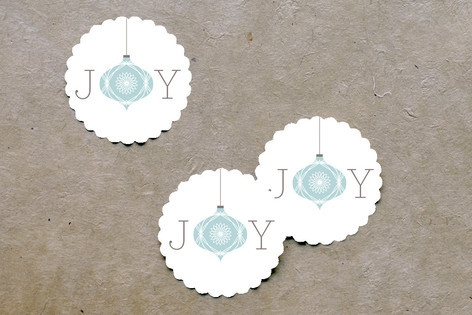 Elegant Joy Scalloped Stickers by guess what?