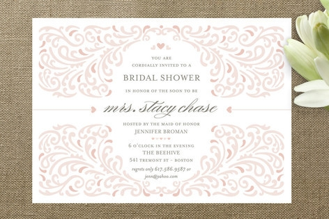Elegant Piping Bridal Shower Invitations by Mandy ...