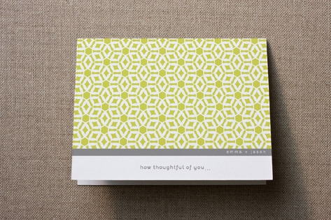 Elegantly Simple Thank You Cards by guess what?