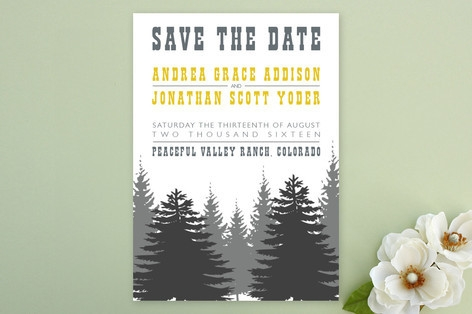 Enchanted Forest Save the Date Cards