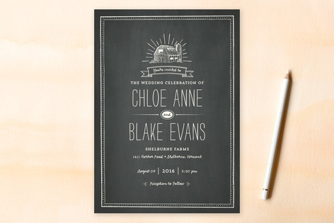 Farm Fresh Wedding Invitations