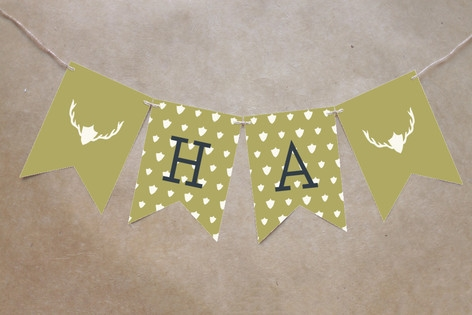 Fireside Feast Bunting Banners by toast & laurel