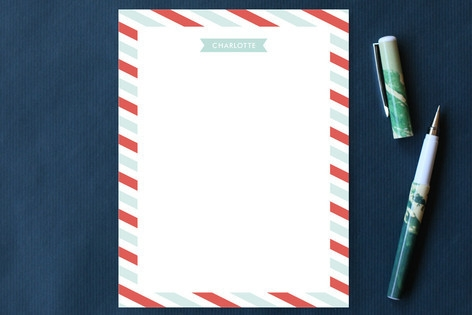 Flags and Stripes Personalized Stationery by Marie...