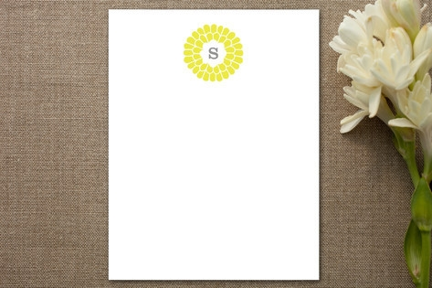 Flower Burst Personalized Stationery by trbdesign