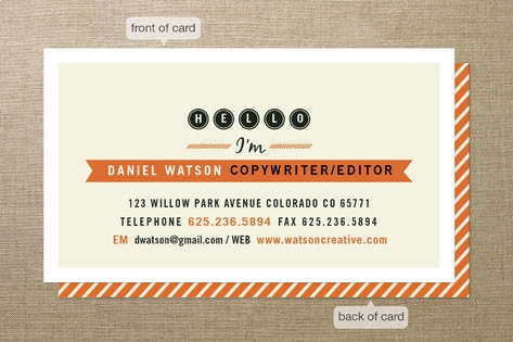 Friendly Type Business Cards