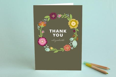 Garden Party Adult Thank You Greeting Cards by Ale...