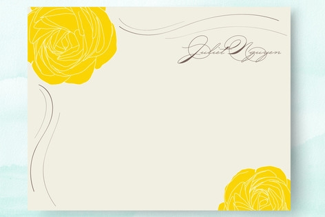 Golden Afternoon Personalized Stationery by Design...