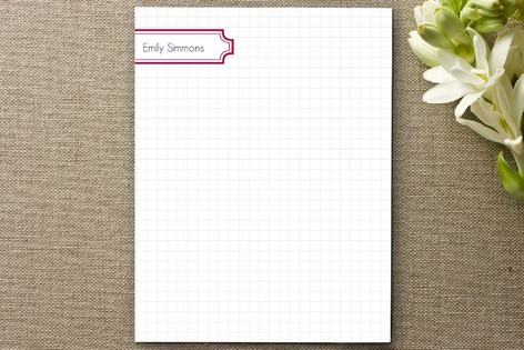 Grid with Label Personalized Stationery by Whisker...