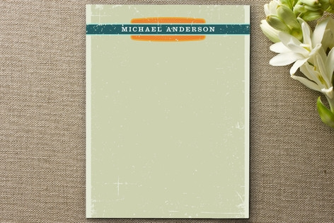 Grunge Label Personalized Stationery by Dish and S...