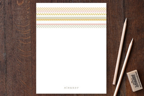 Gypsy Stripe Personalized Stationery by Kelly Nasu...